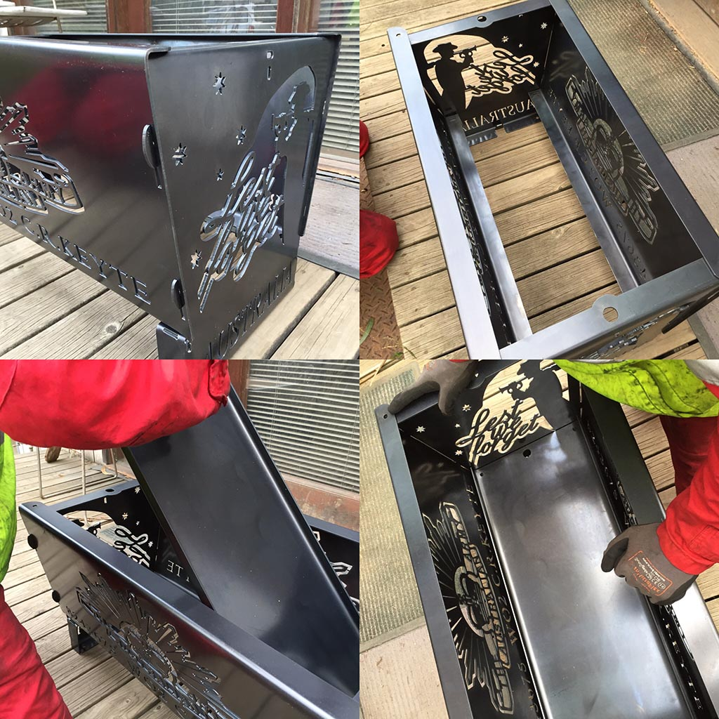 Sydney Roosters Flat Pack Amfx Metalart Fire Pits