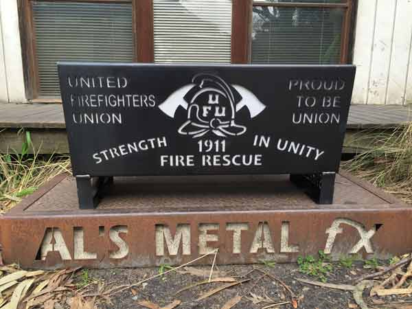 United Fire Fighters Union Fire Pit