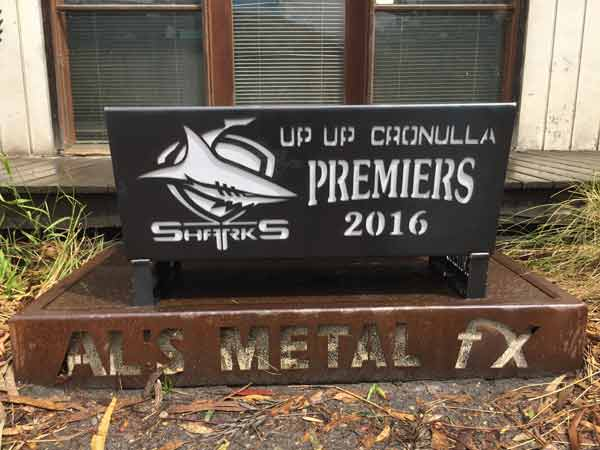 Cronulla Sharks 2016 Premiership Fire Pit