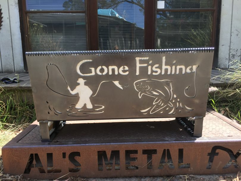 Gone Fishing Fire Pit