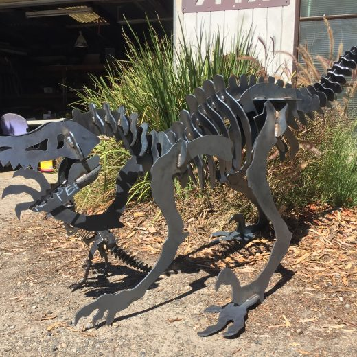 Raptor Large Metal Art