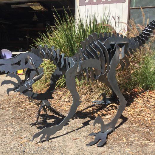 Raptor Large Metal Art
