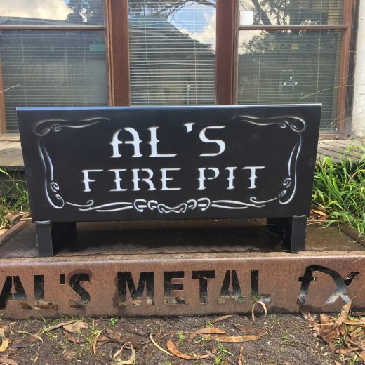 Custom Words Fire Pit Flat Pack