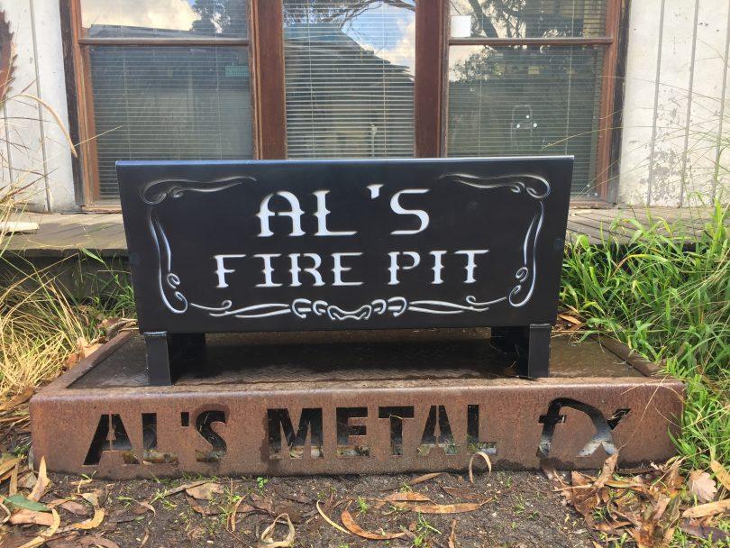 Custom Words Fire Pit Flat Pack