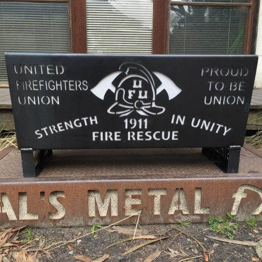 United Firefighters Union Fire Pit