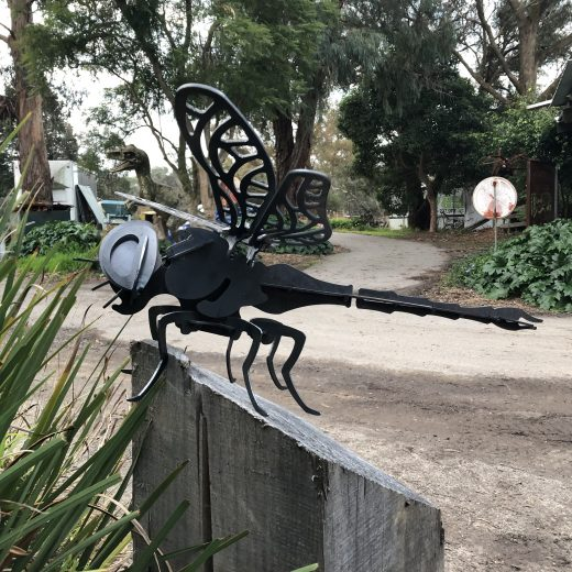 Dragon Fly Metal Art