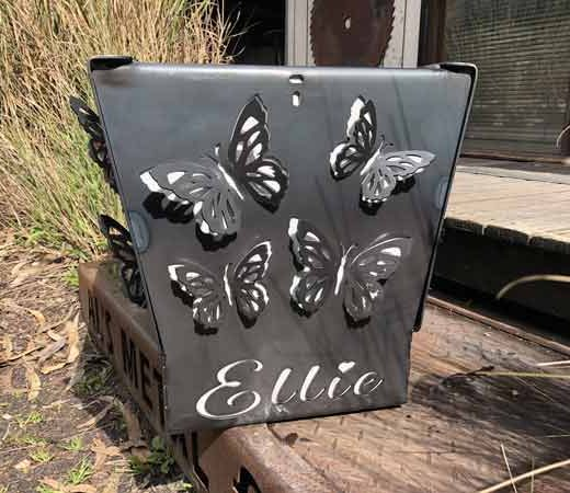3D Customised Butterfly Fire Pit