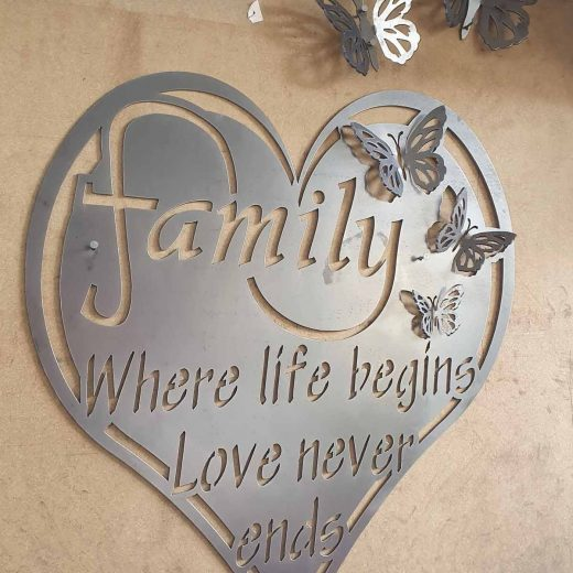 Family Butterfly Wall Art