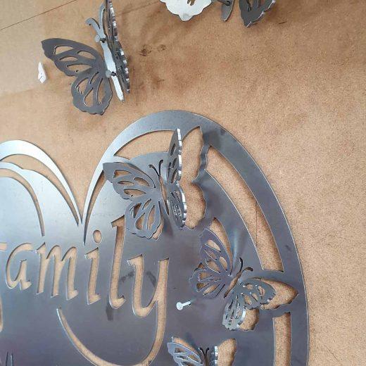 Family Butterfly Wall Art