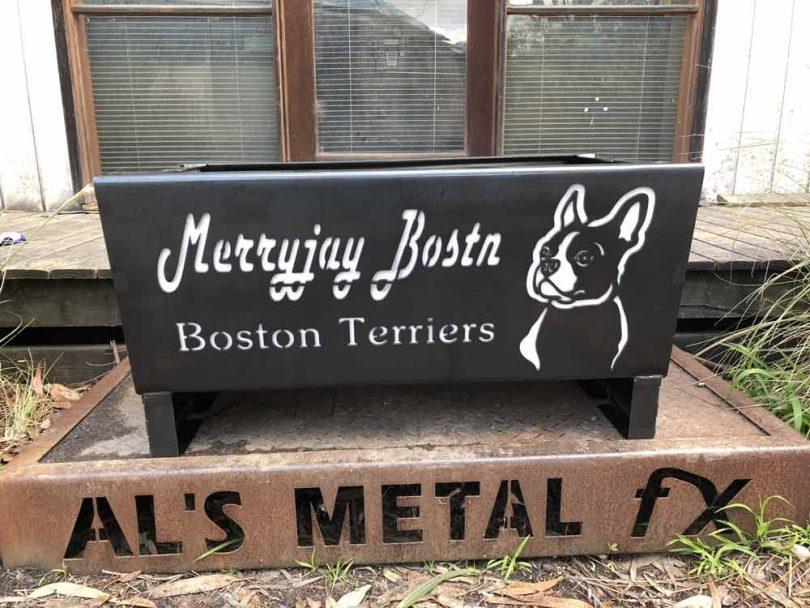 Boston Terrier Dog Fire Pit