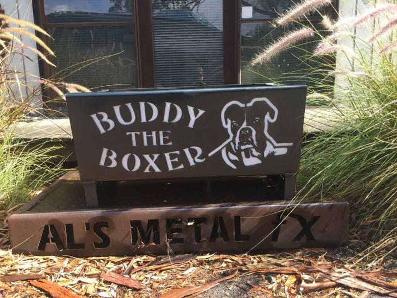 Boxer Dog Fire Pit