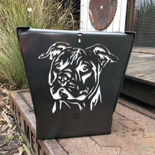 Staffordshire Terrier Dog Fire Pit