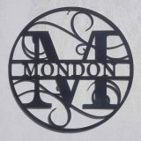 Monogram Letter Wall Art Circular