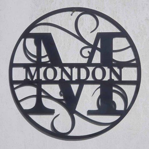 Monogram Letter Wall Art Circular